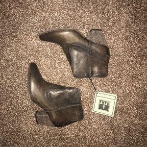 Brown Frye ankle boots